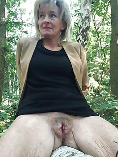 Old granny upskirt